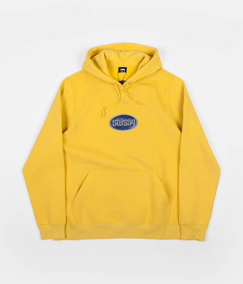 Stussy Oval Applique Hoodie - Yellow