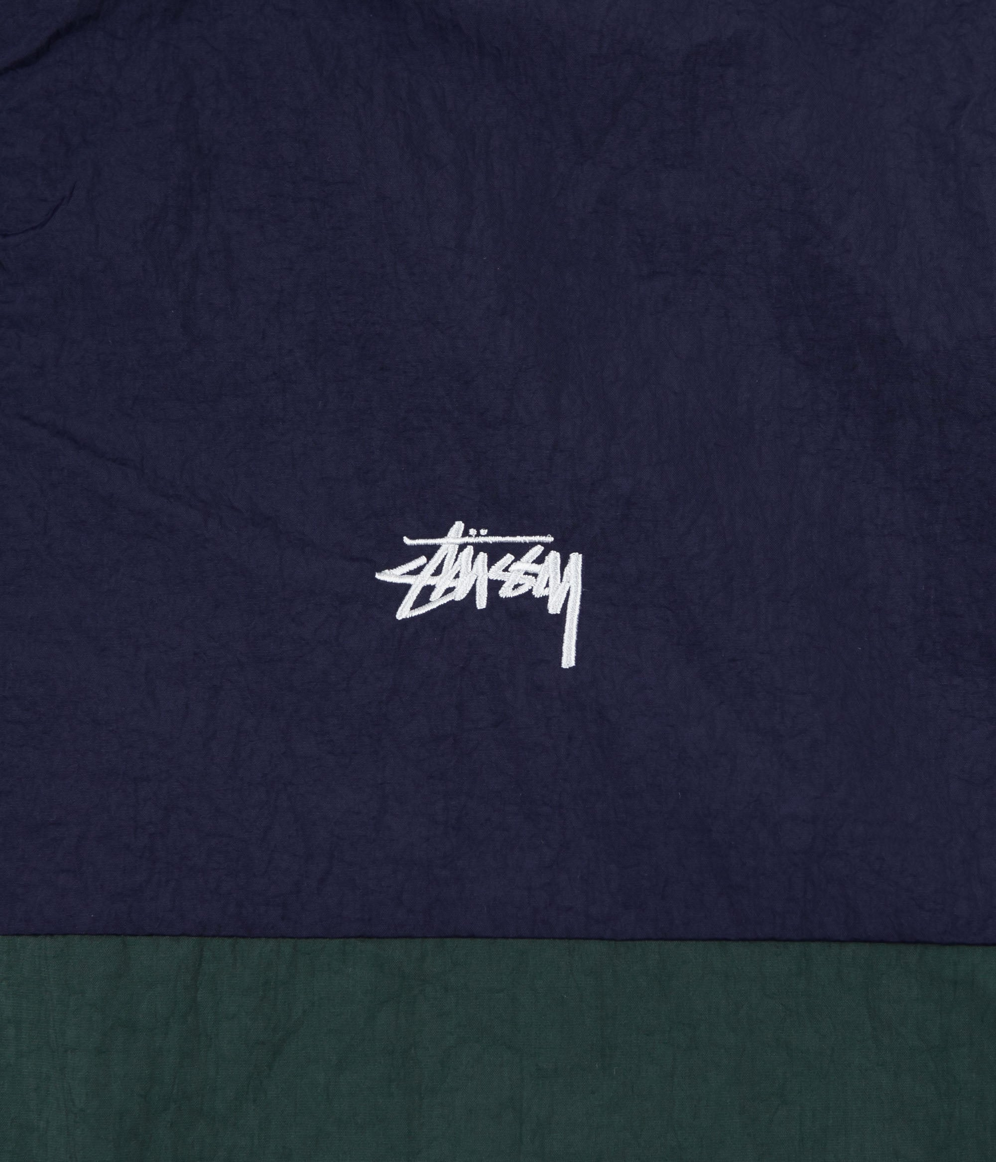 Stussy Panel Track Jacket - Navy