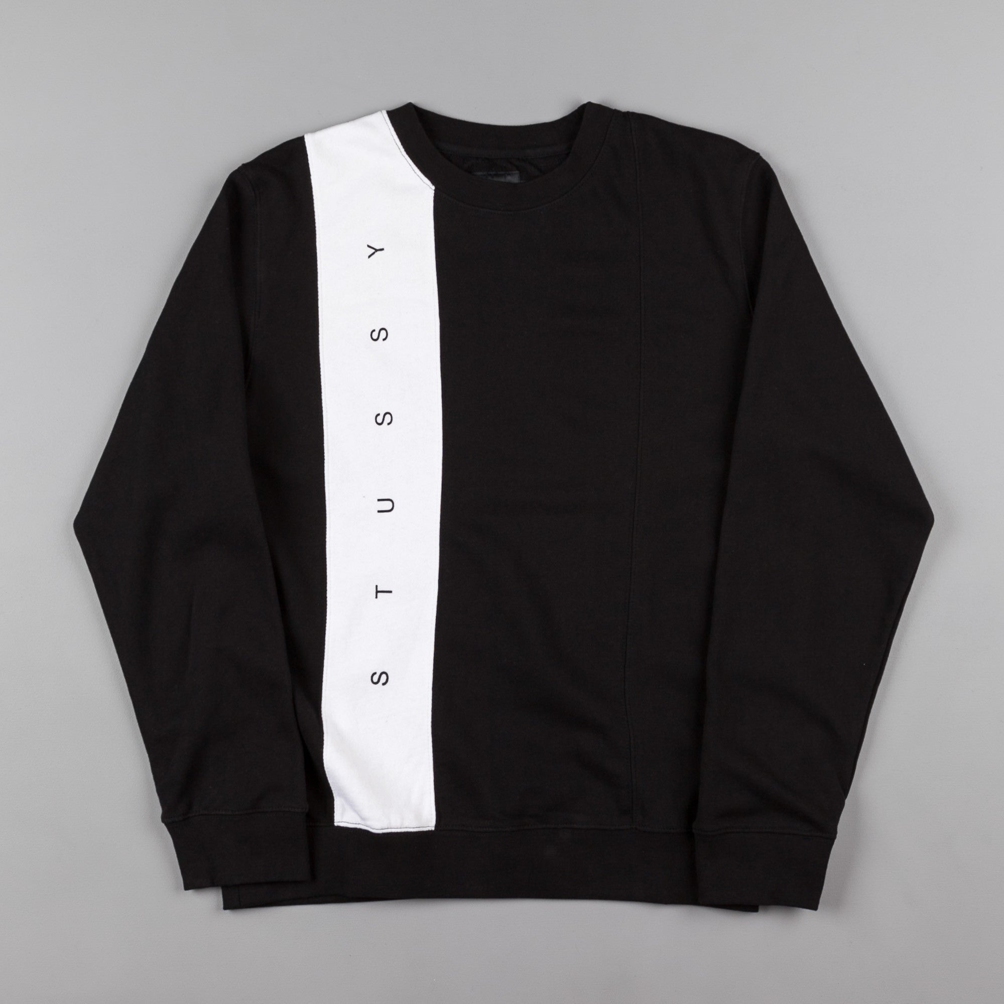 Stussy Paneled Crewneck Sweatshirt - Black