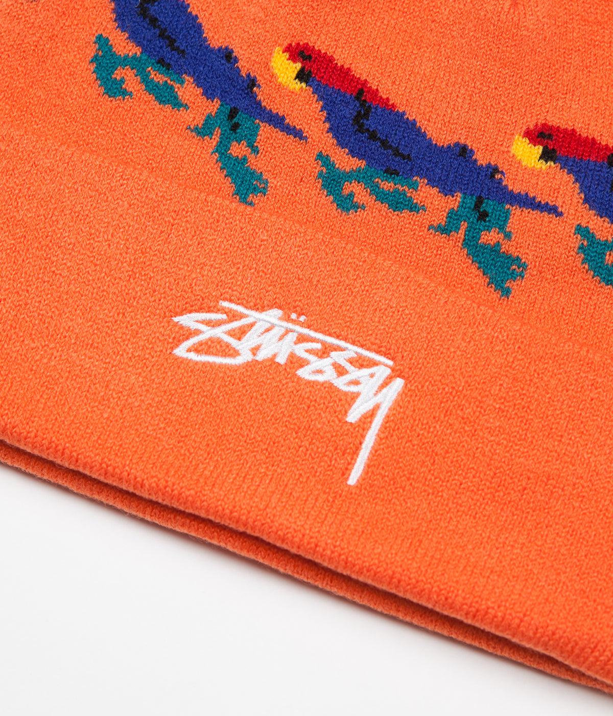 Stussy Parrot Cuff Beanie - Orange