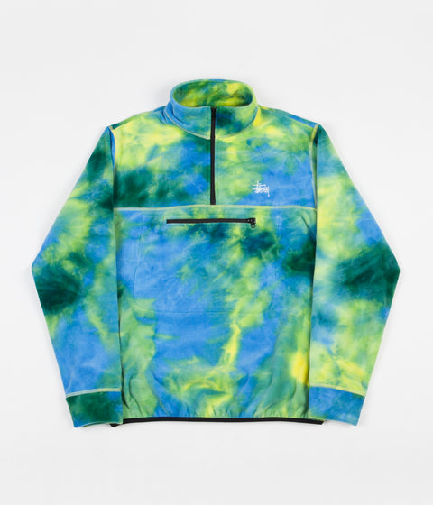 Stussy Polar Mock Neck Fleece - Tie Dye