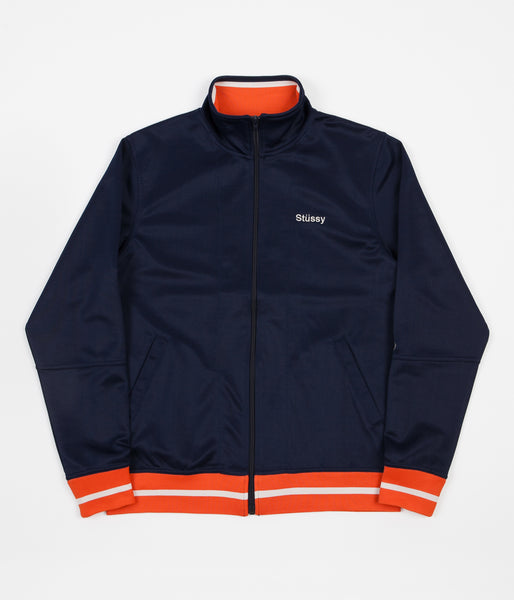 Stussy Poly Track Jacket - Navy