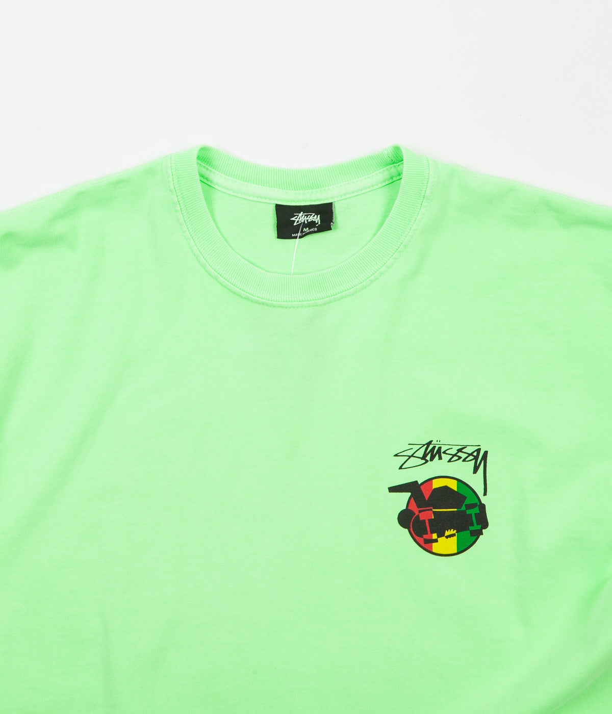 Stussy Rasta Sk8 Pigment Dyed T-Shirt - Green