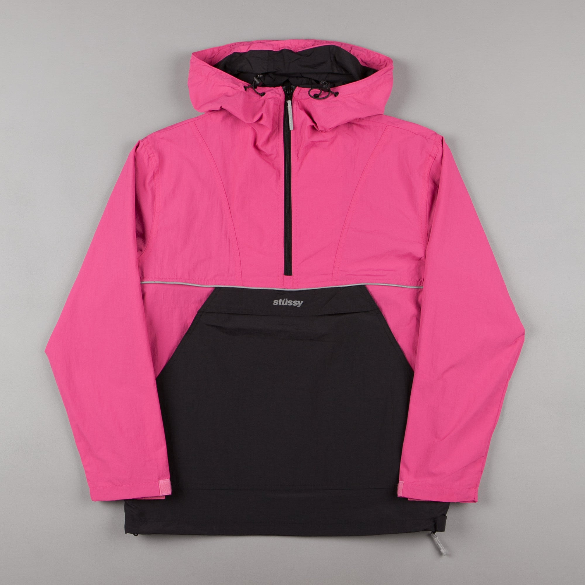 Stussy Reflective Sports Pullover Jacket - Berry