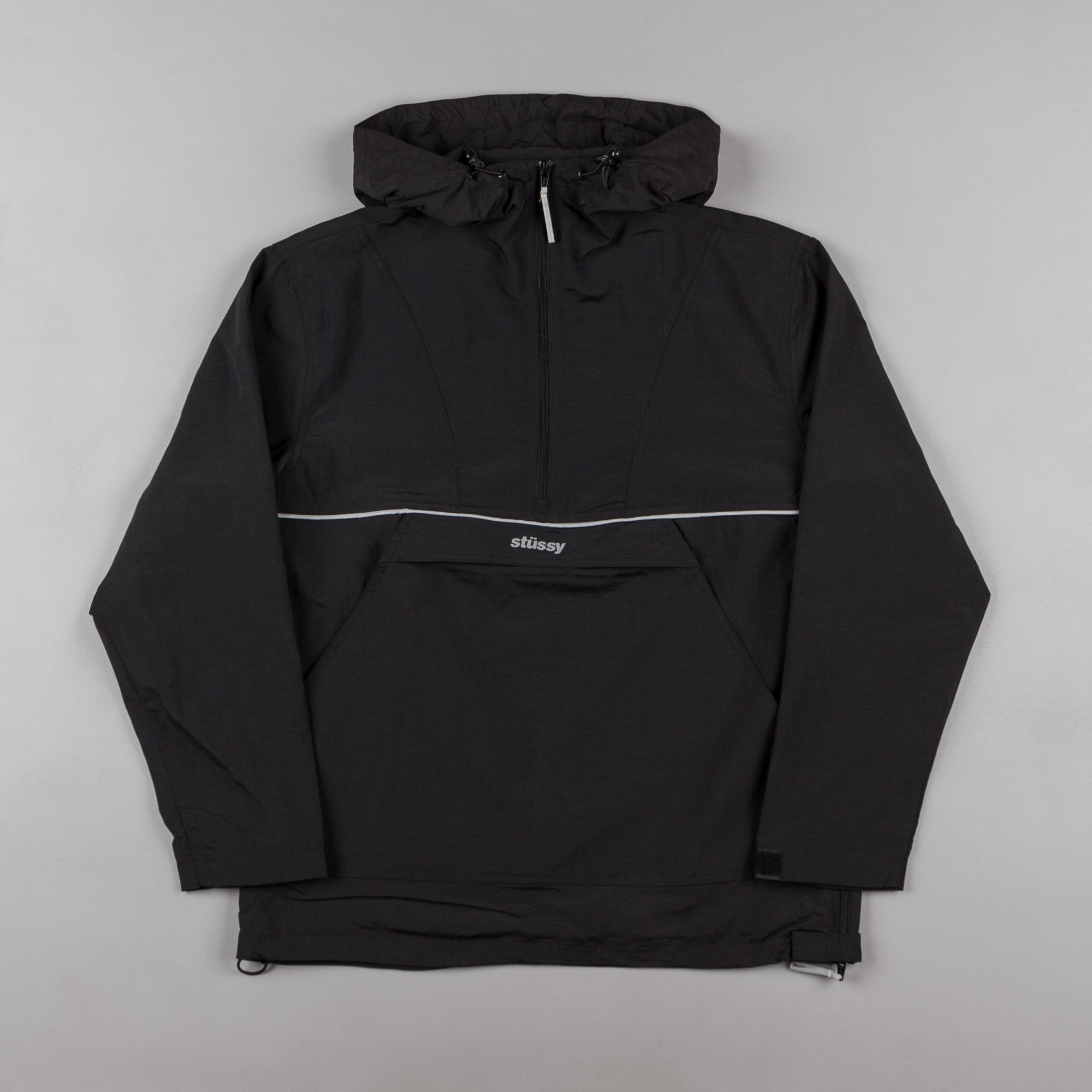 Stussy Reflective Sports Pullover Jacket - Black