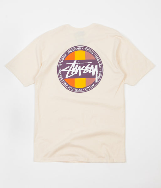 Stussy Reggae Surf Dot T-Shirt - Natural