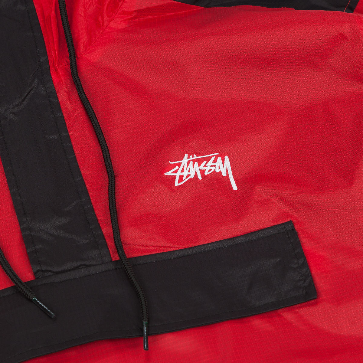 Stussy Ripstop Pullover Jacket - Red