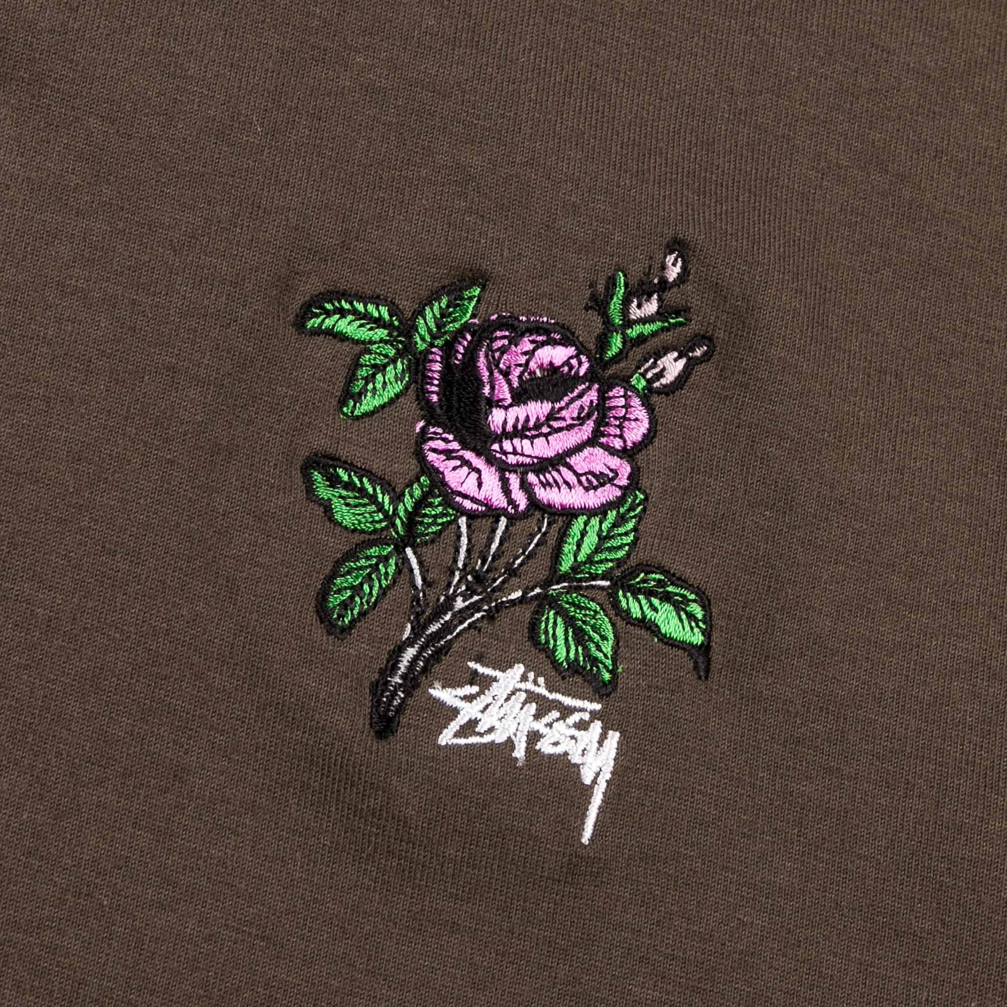 Stussy Rose T-Shirt - Charcoal