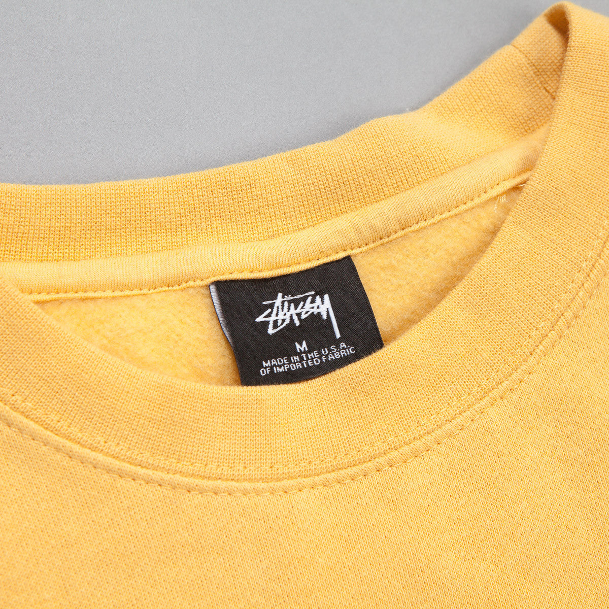 Stussy Round Stamp Crewneck Sweatshirt - Faded Yellow
