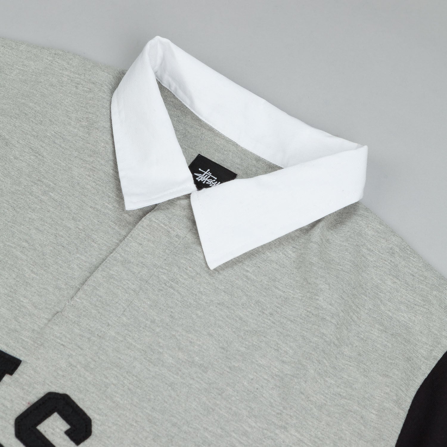 Stussy Rugby Arc Polo L/S T-Shirt Grey Heather