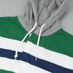 Stussy Rugby Hooded Sweatshirt - Green
