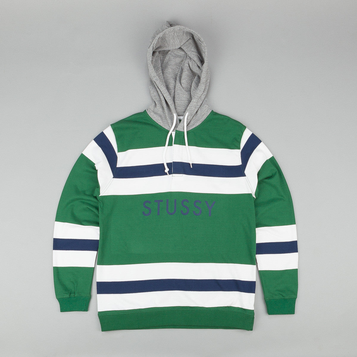 Stussy Rugby Hooded Sweatshirt