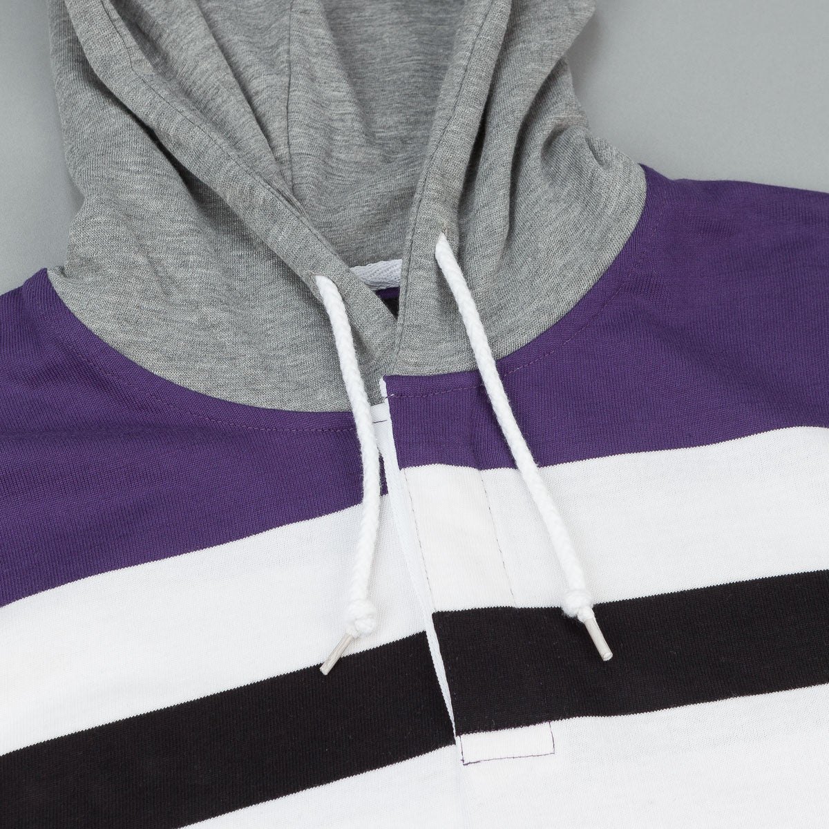 Stussy Rugby Hooded Sweatshirt - Purple