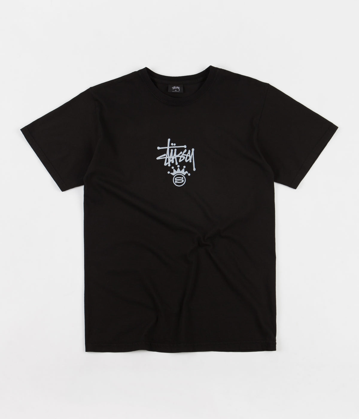 Stussy S Crown Pigment Dyed T-Shirt - Black