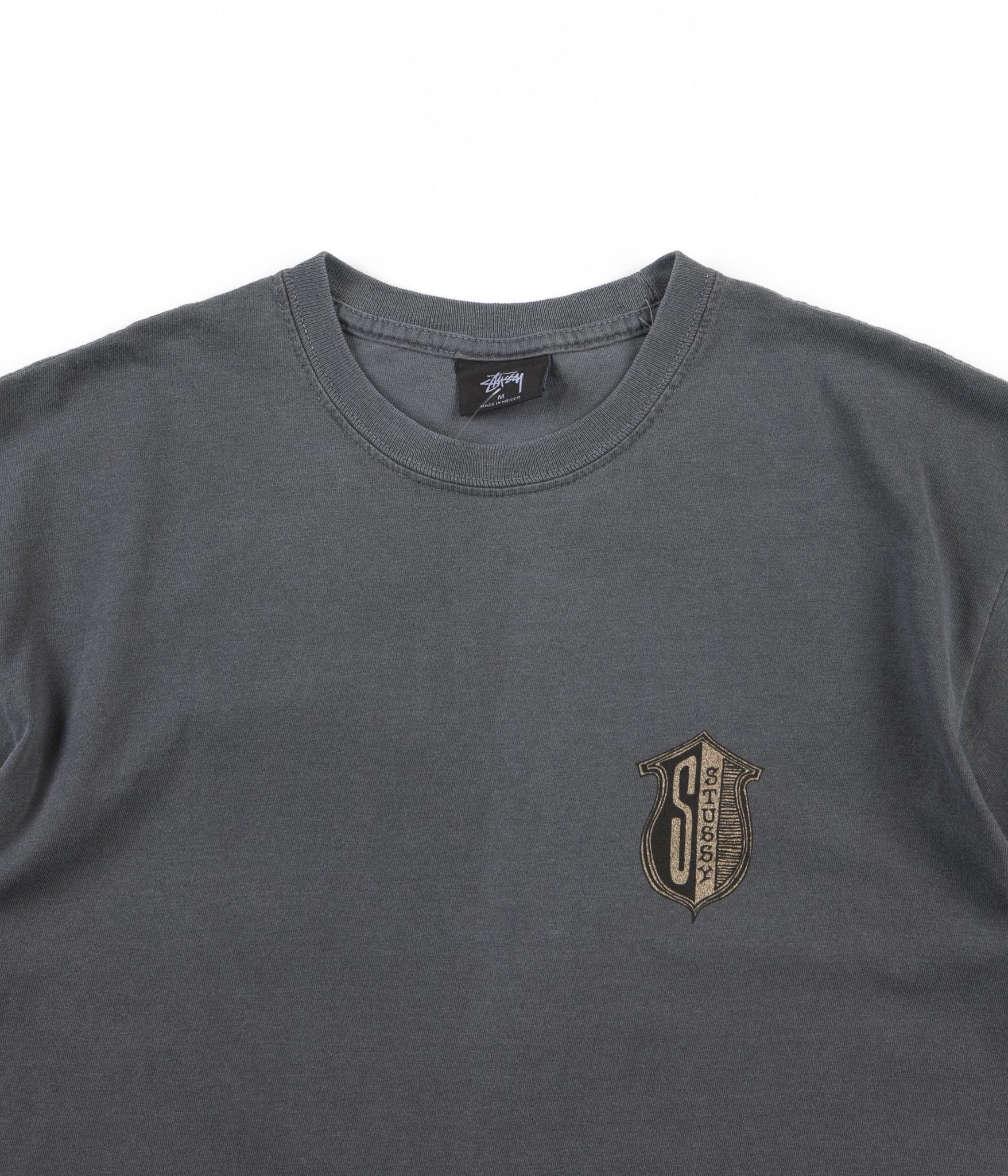 Stussy S Shield Pigment Dyed T-Shirt - Black