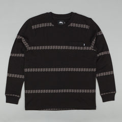 "Stussy ""S"" Stripe Crew Neck Sweatshirt - Black"