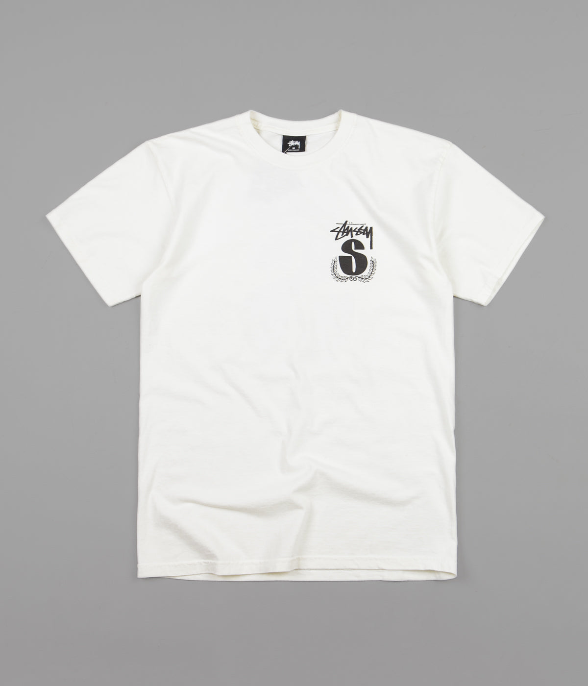 Stussy S Wreath Pigment Dyed T-Shirt - Natural