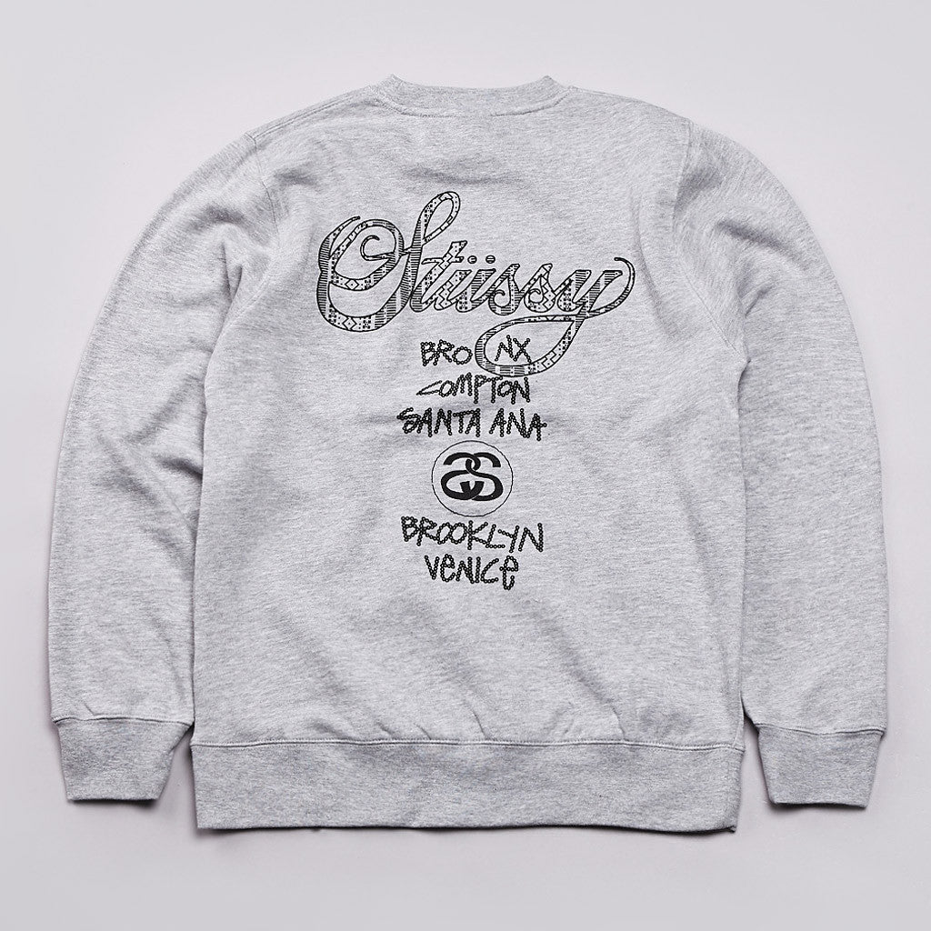 Stussy Safari WT Crew Neck Sweatshirt Grey Heather