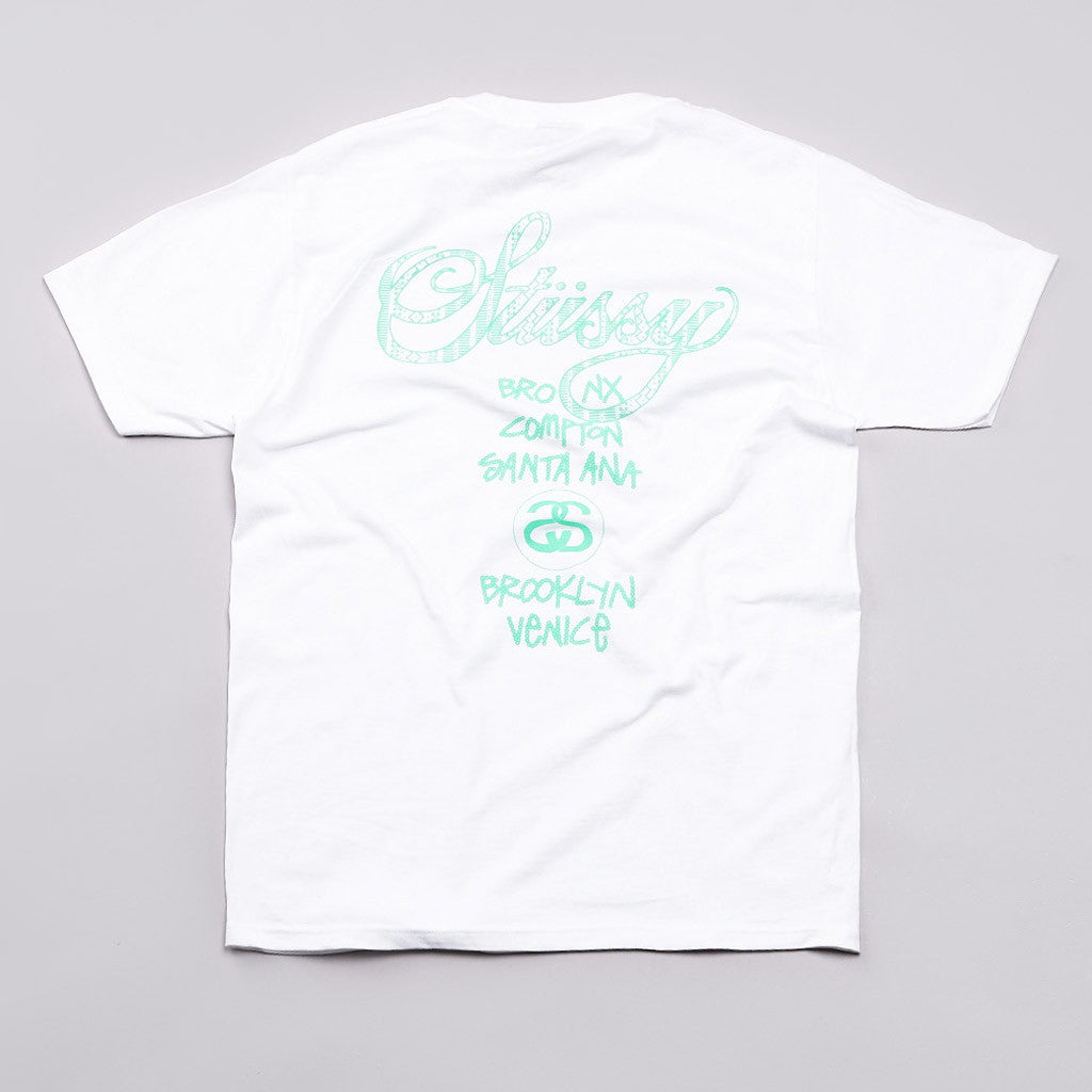 Stussy Safari WT T Shirt White