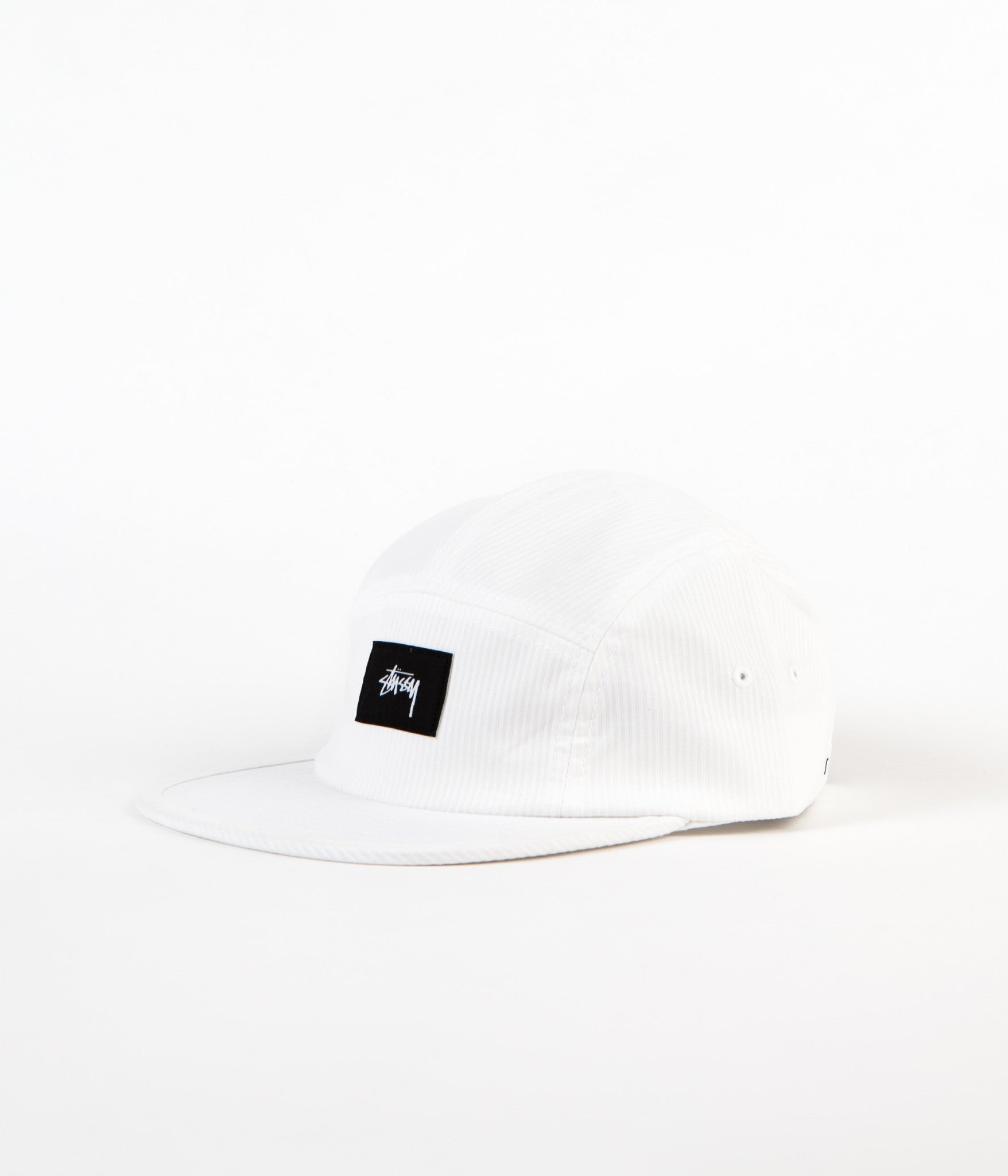 Stussy Seersucker Camp Cap - Off White