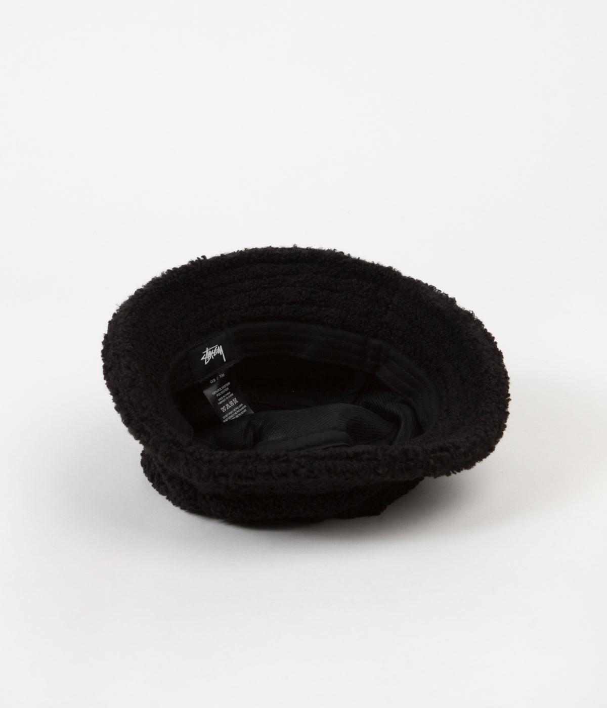 7aeabed8d73 Stussy Sherpa Fleece Bucket Hat - Black ...