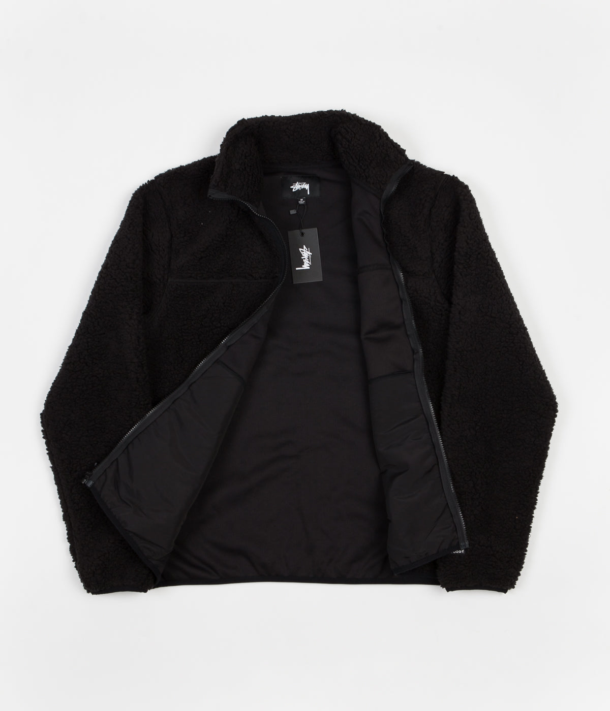 Stussy Sherpa Mockneck Fleece - Black