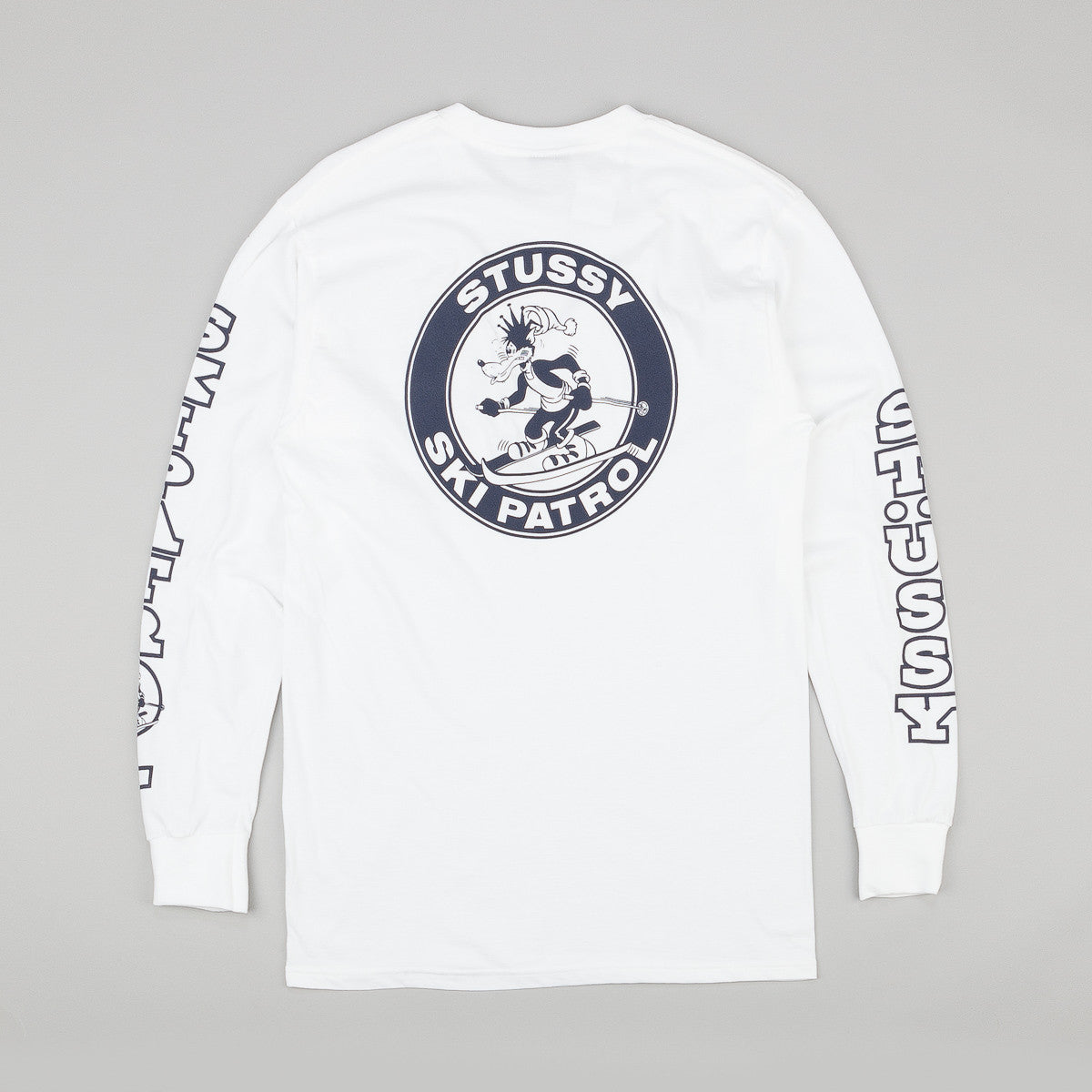 Stussy Ski Patrol Long Sleeve T-Shirt - White