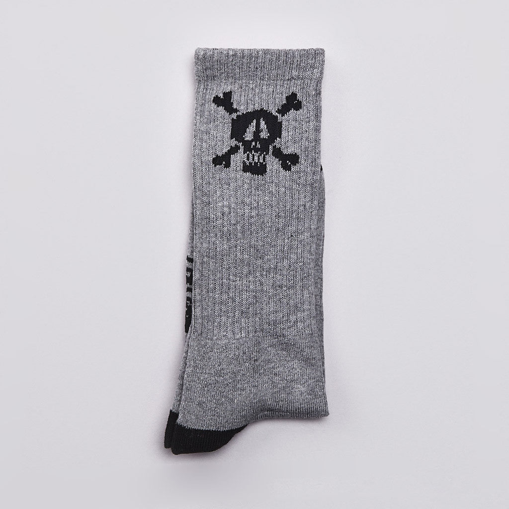 Stussy Skull Crew Socks Grey Heather