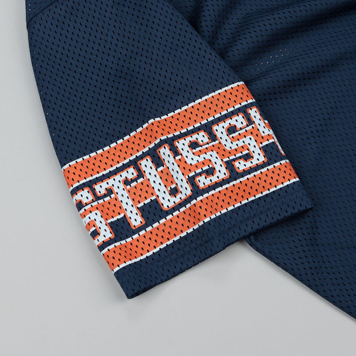 Stussy Sleeve Stripe Football Top - Navy