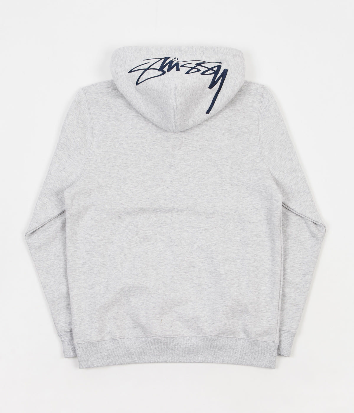 Stussy Smooth Stock Applique Hoodie - Grey Heather