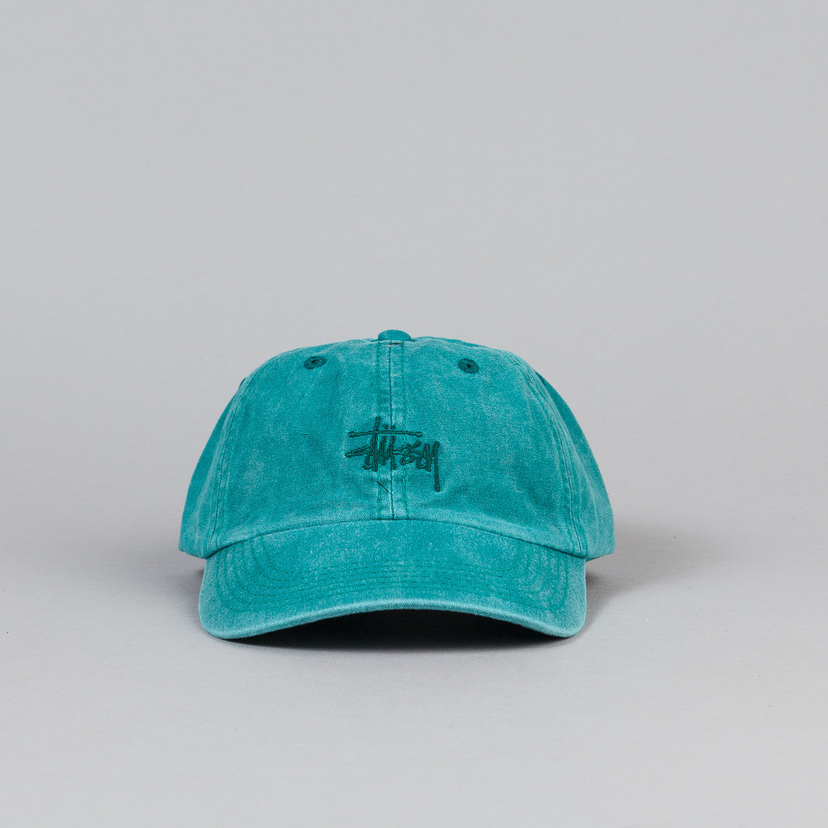 Stussy Smooth Stock Enzyme Wash Cap - Teal