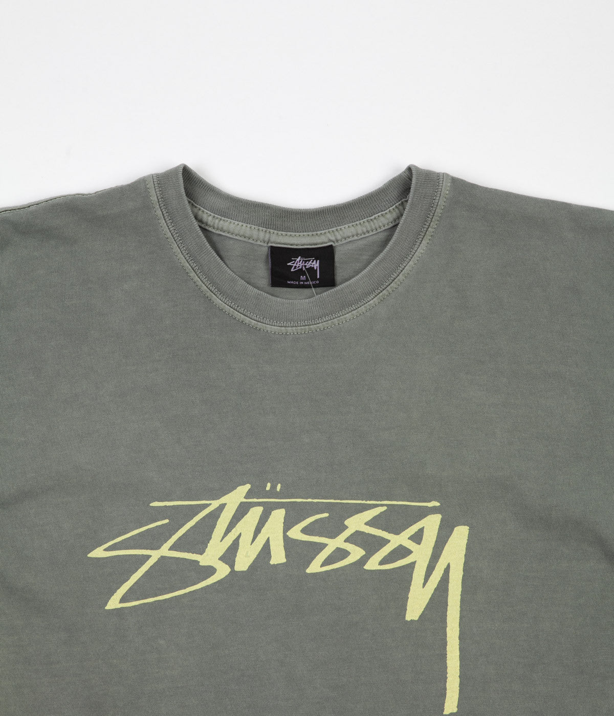 Stussy Smooth Stock Pigment Dyed T-Shirt - Cool Grey