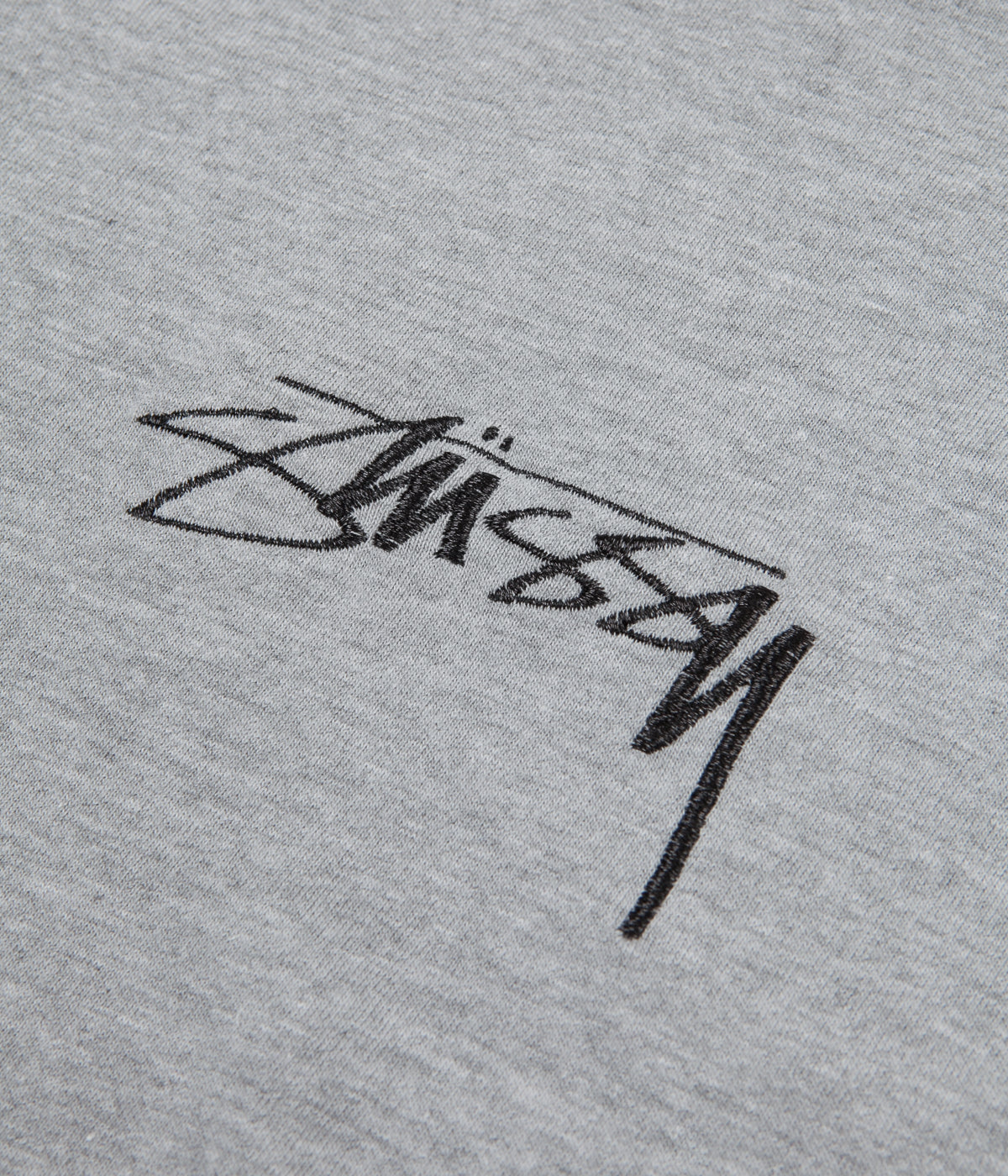 Stussy Smooth Stock T-Shirt - Grey Heather