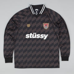 Stussy Soccer Jersey Long Sleeve T-Shirt - Black