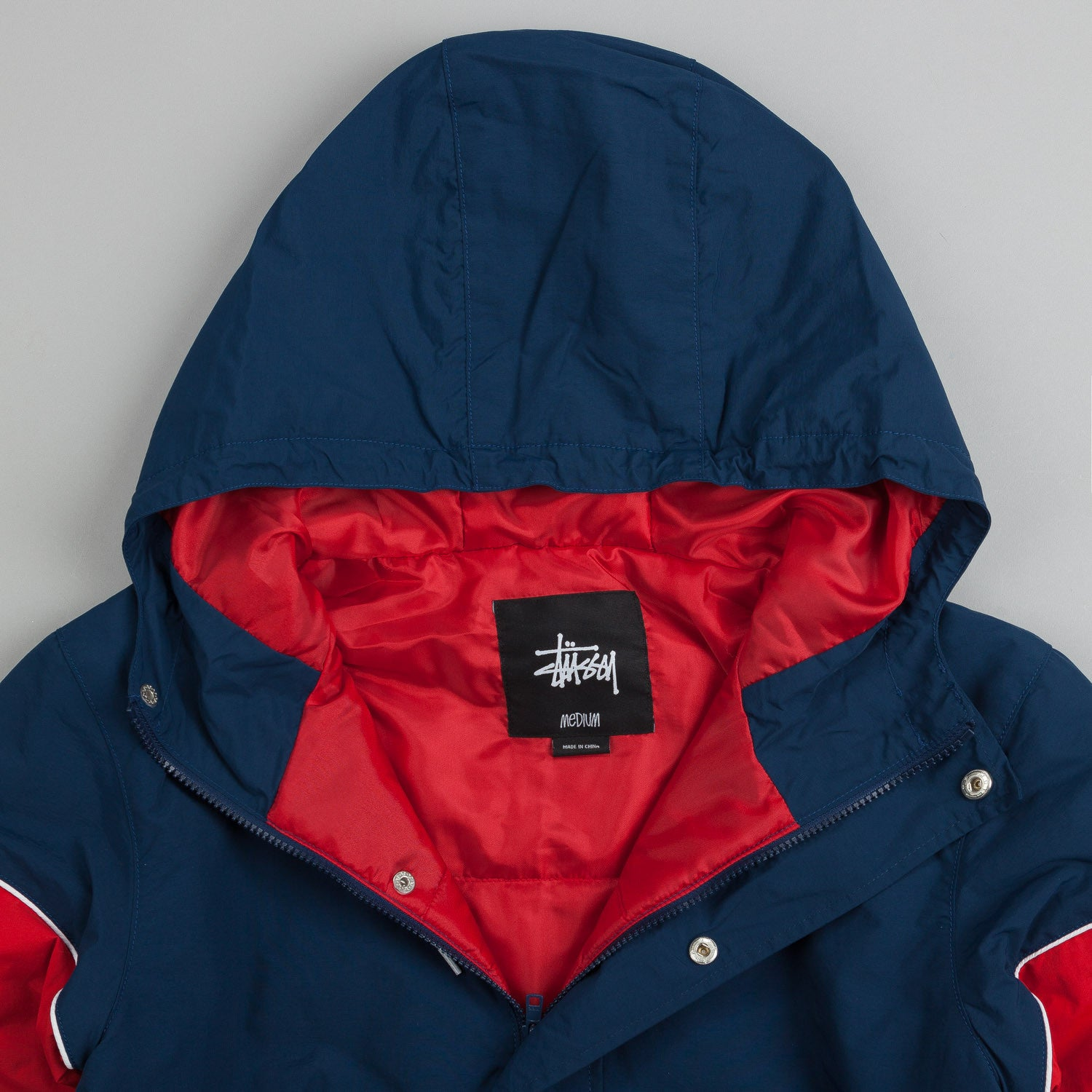 Stussy Sports Pullover Jacket Navy