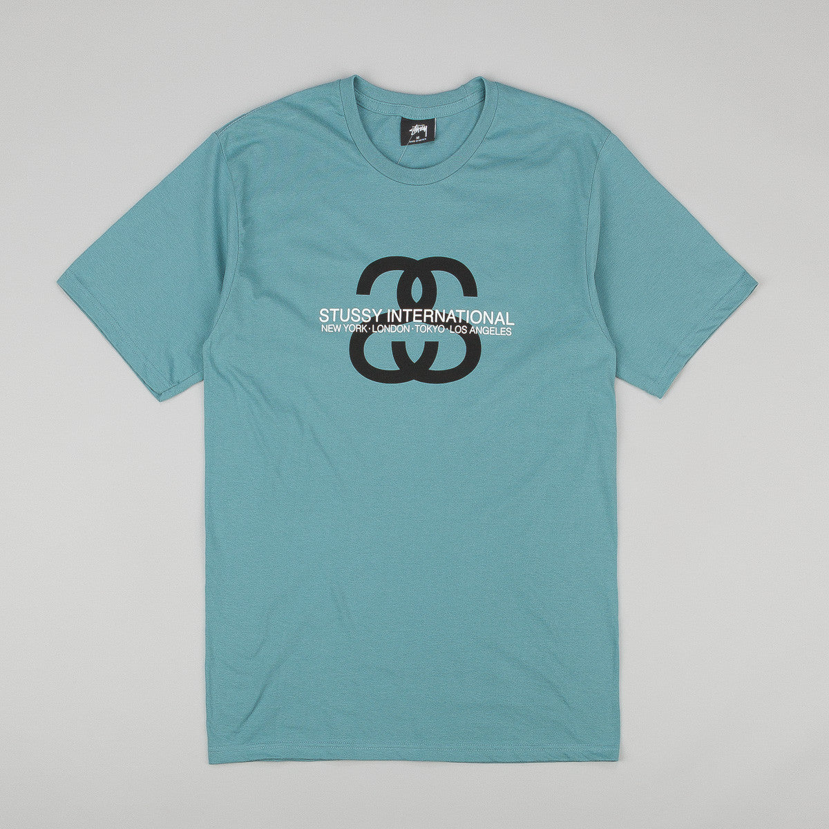 Stussy SS Link International T-Shirt - Steel