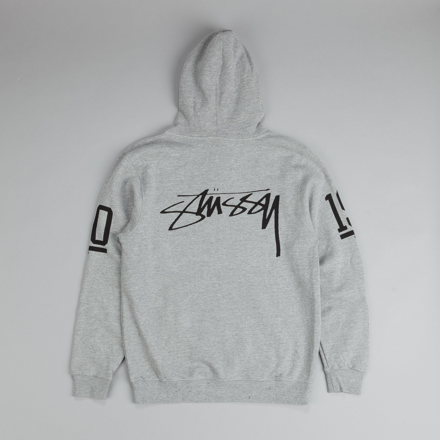 Stussy SS Old Skool Hooded Sweatshirt Grey Heather