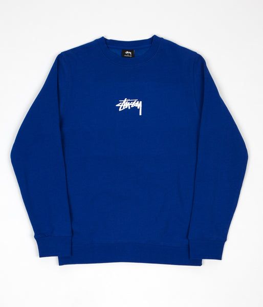 Stussy Stock Crewneck Sweatshirt - Dark Blue