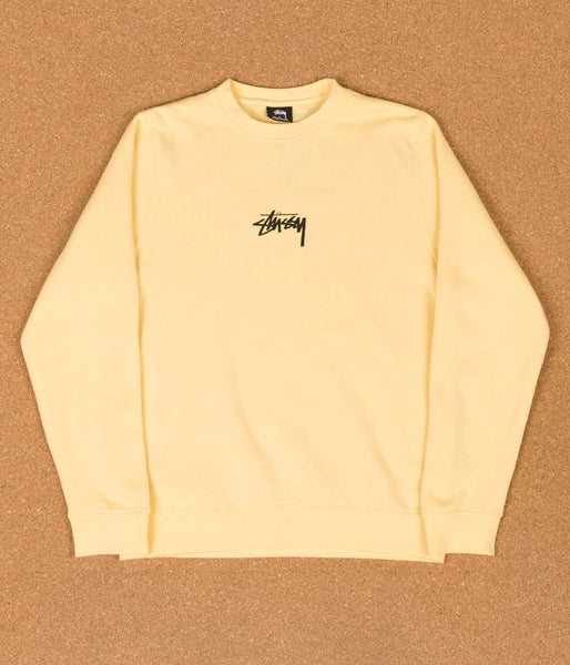 Stussy Stock Crewneck Sweatshirt - Pale Yellow
