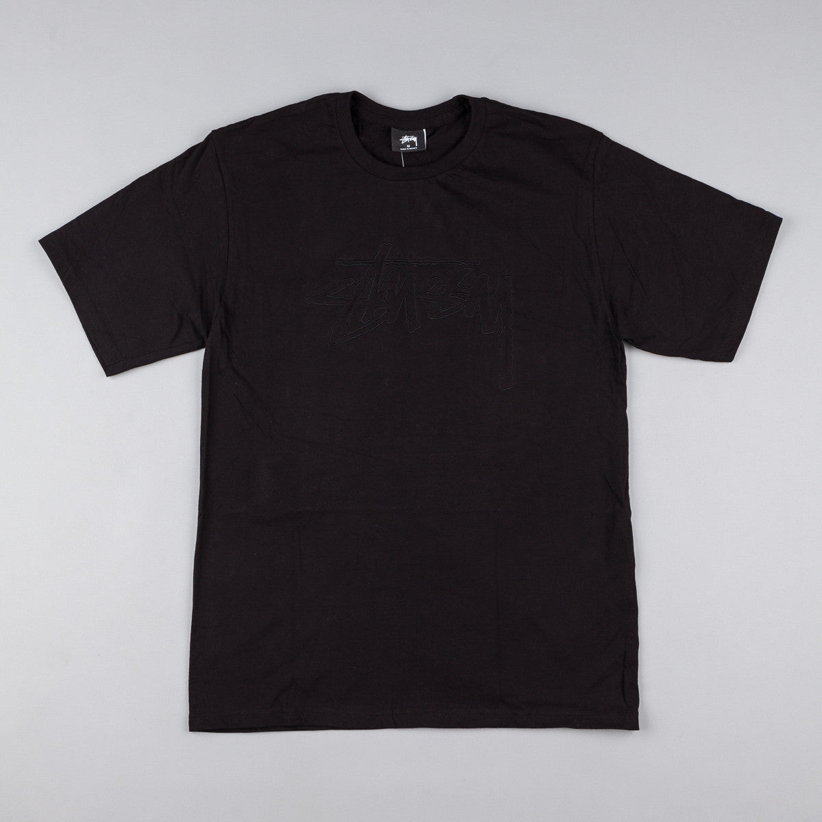Stussy Stock Embroidered T-Shirt - Black
