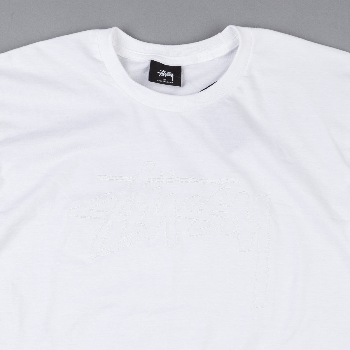 Stussy Stock Embroidered T-Shirt - White