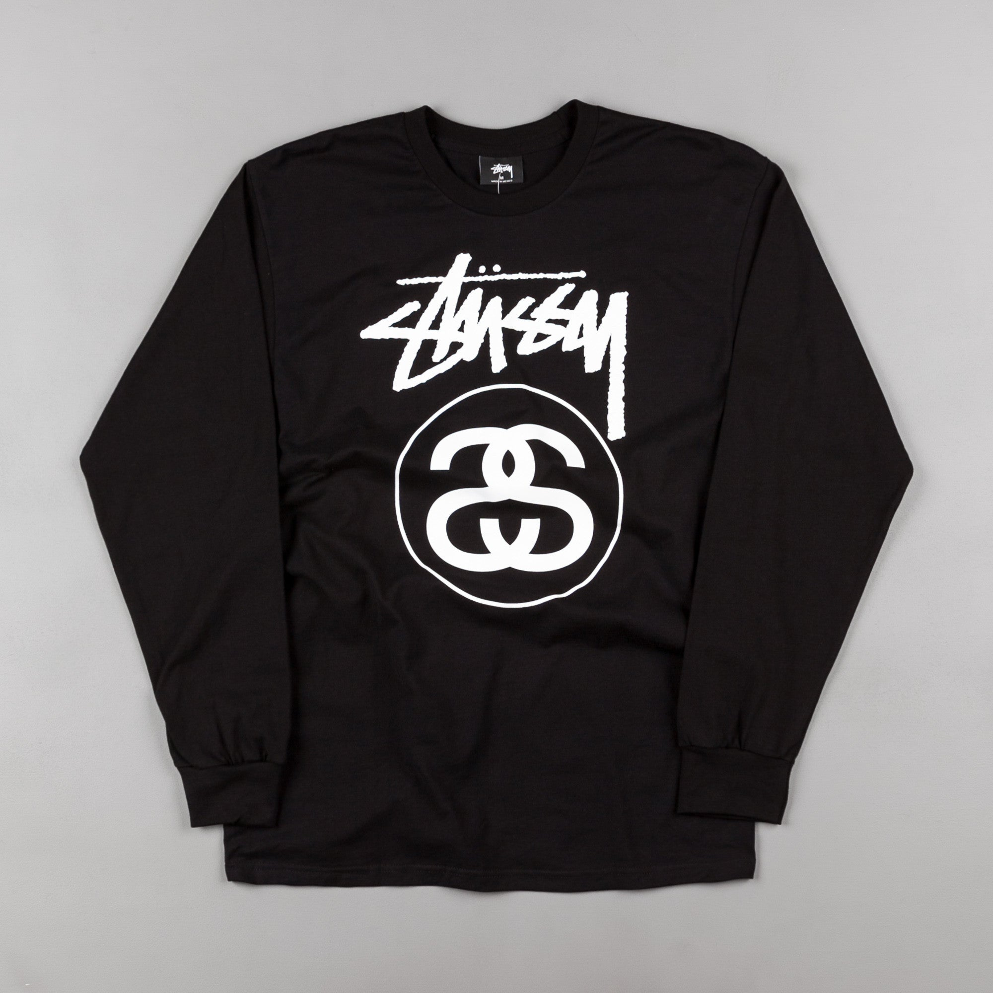 Stussy Stock Link Long Sleeve T-Shirt - Black