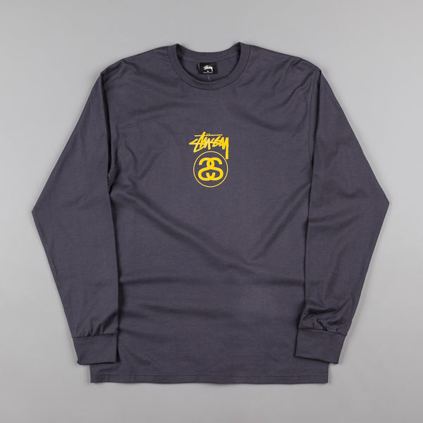 Stussy Stock Link Long Sleeve T-Shirt - Midnight
