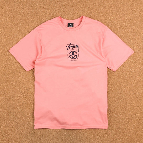 Stussy Stock Link T-Shirt - Rose