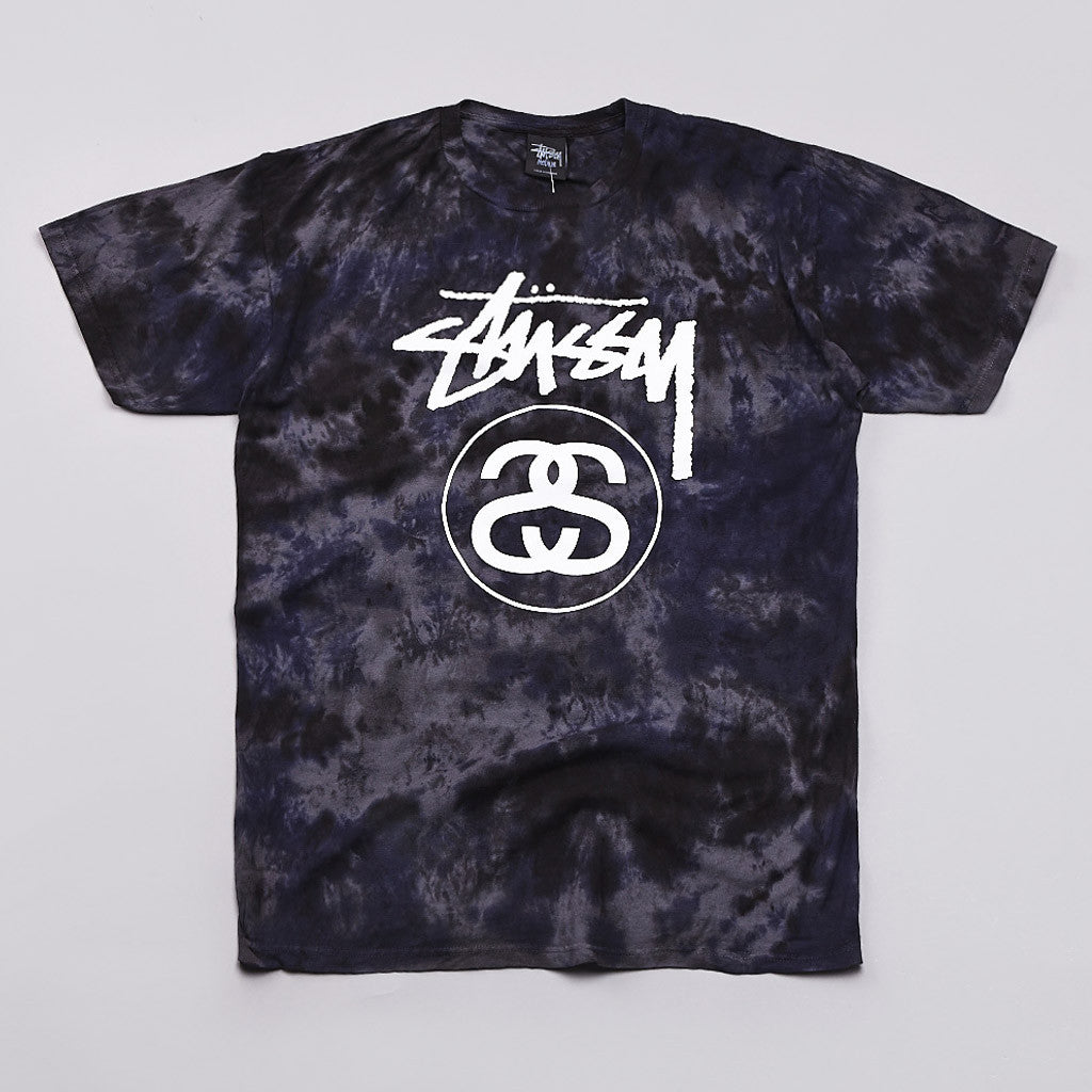 Stussy Stock T Shirt Tie Dye Purple