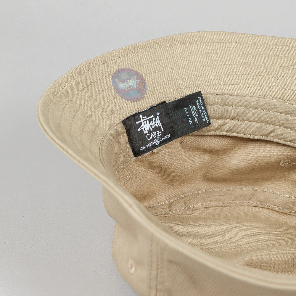 Stussy Stock Lock Bucket Hat Khaki