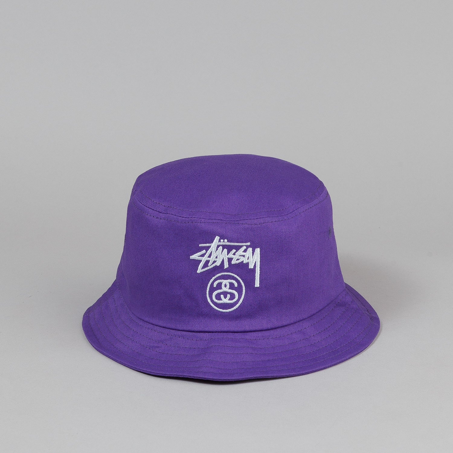 Stussy Stock Lock Bucket Hat - Purple
