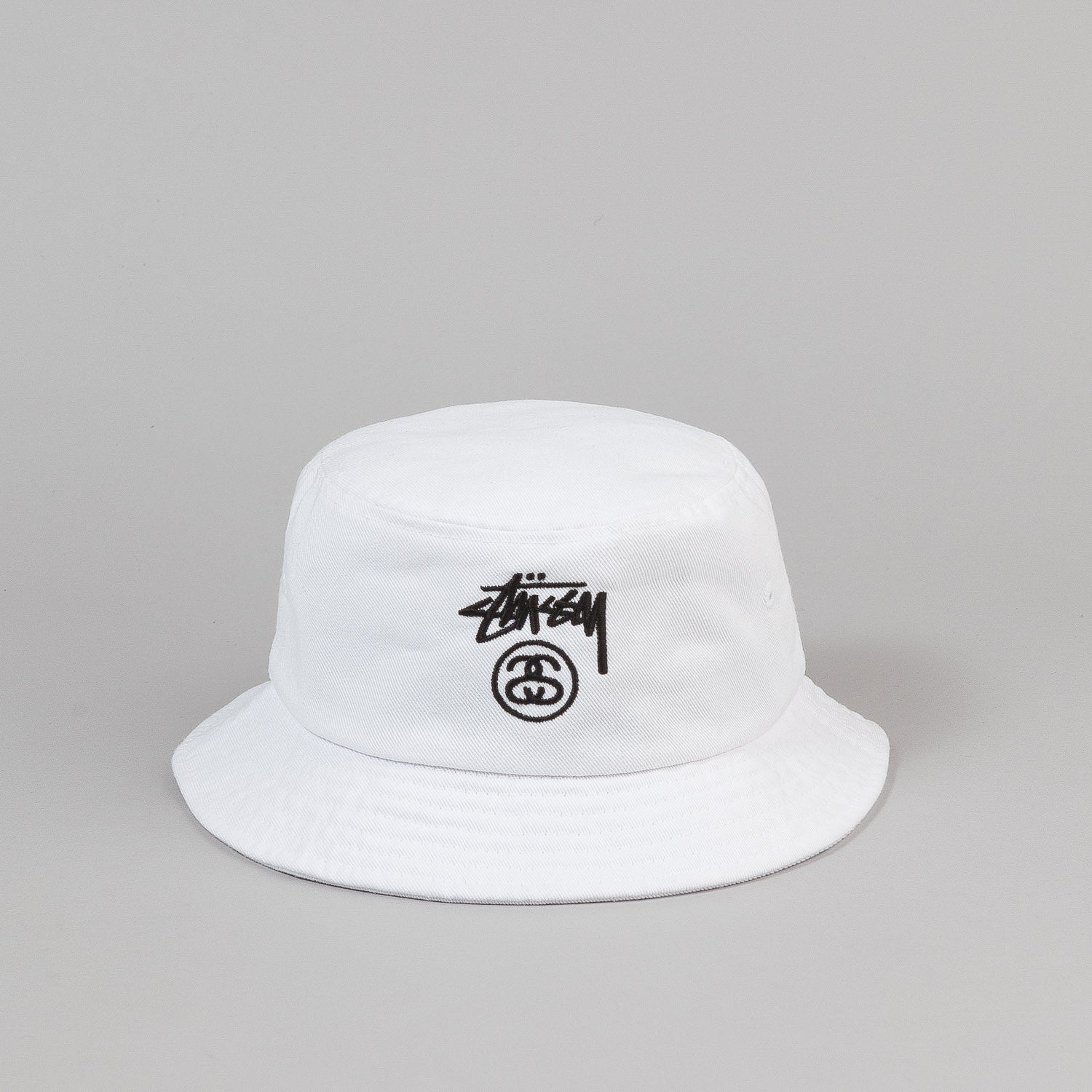 Stussy Stock Lock Bucket Hat - White