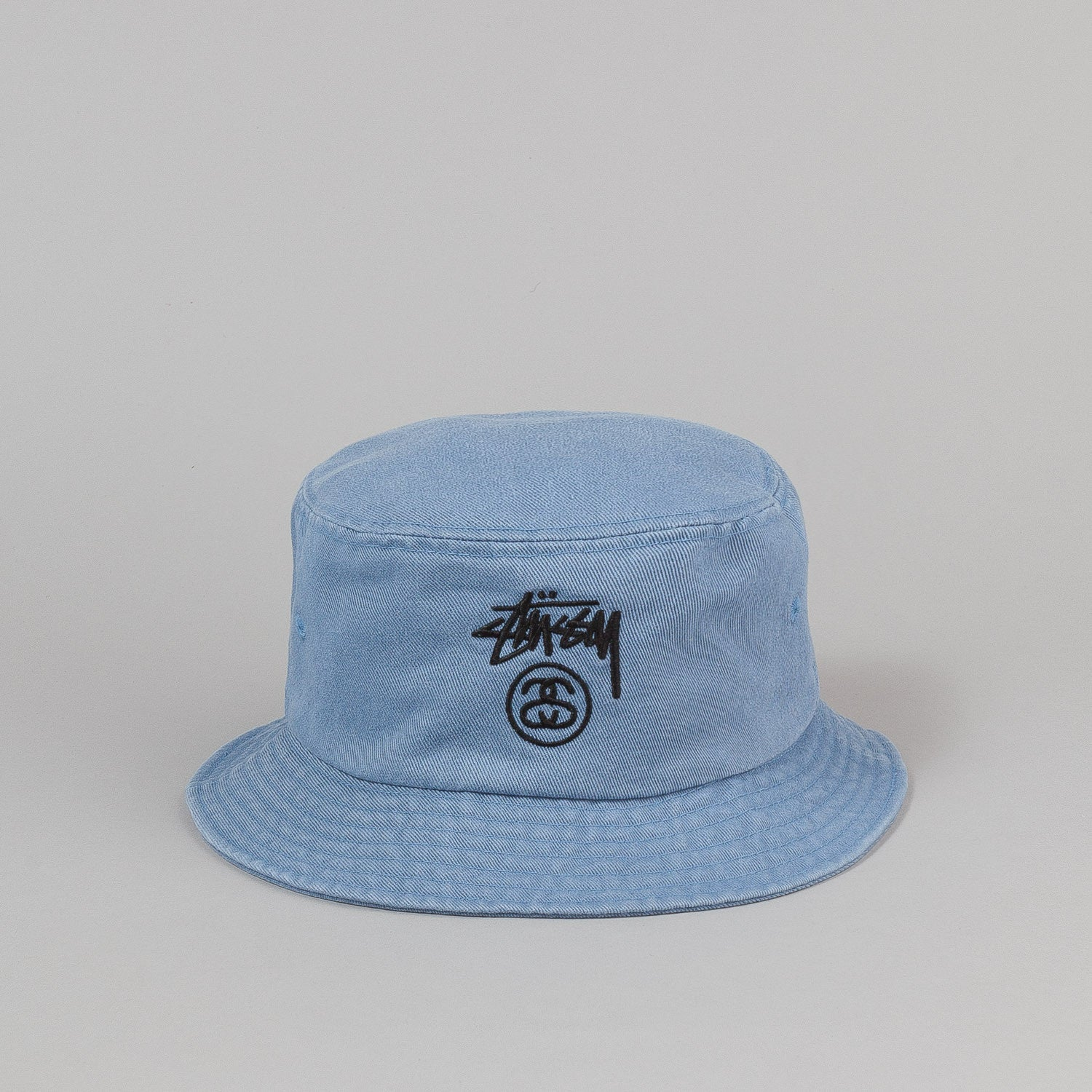 Stussy Stock Lock Denim Bucket Hat - Indigo