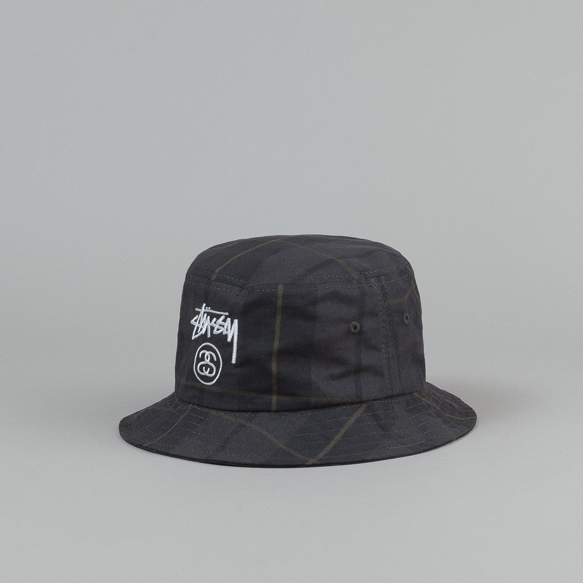 Stussy Stock Lock Plaid Bucket Hat